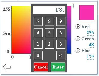 Angivelse af tal ved hjælp af LCD-touchscreen