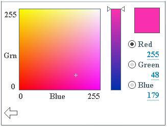 Screenshot af LightingDemo, der kører på et 320 x 240 LCD-touchscreen